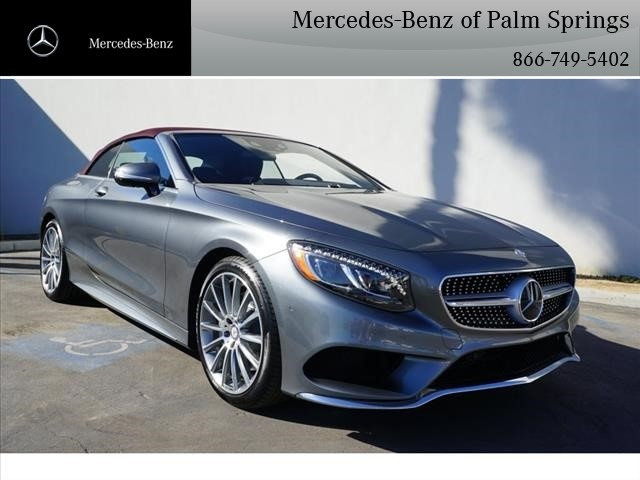 pre owned 2017 mercedes benz s class s 550 sport cabriolet in palm